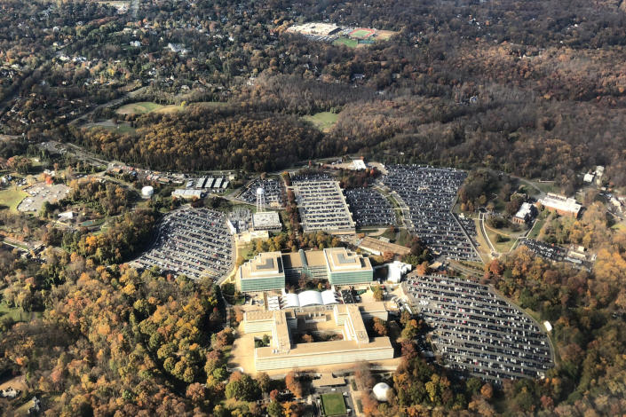 The headquarters of the Central Intelligence Agency in Langley, Va. (Daniel Slim / AFP via Getty Images file)