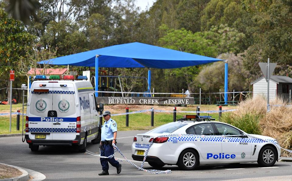 A homicide investigation has been launched after the discovery of a woman's body near a children's playground at Buffalo Creek Reserve. Source: AAP