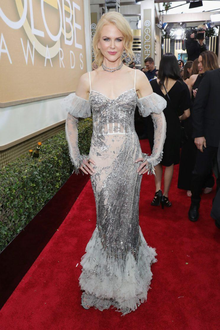 Nicole Kidman in Alexander McQueen. (Photo: Getty Images)