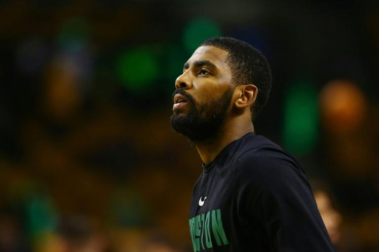 Kyrie Irving suffered a possible concussion less than two minutes into the Celtics game against the Charlotte Hornets after taking an elbow from teammate Aron Baynes, at TD Garden in Boston, Massachusetts, on November 10, 2017