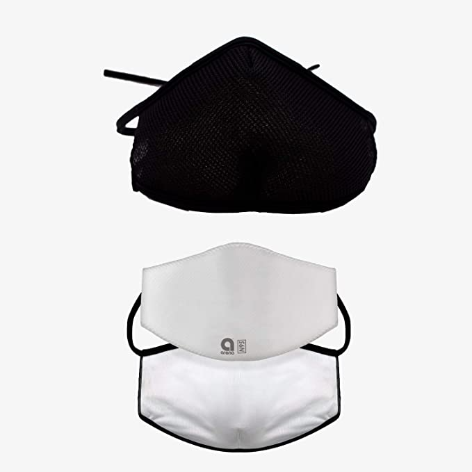 "<h3>Arena Tour Breathable Mask </h3><br><strong>Size range:</strong> One Size<br><br>This breathable face mask is made with 4-way stretch fabric to naturally wick away excess moisture. It also features an interior pocket that can hold Arena Daily Filters, or a disposable carbon filter. <br><br><strong>Arena Merchandising</strong> Breathable Face Mask, $, available at <a href=""https://amzn.to/3kFlJvu"" rel=""nofollow noopener"" target=""_blank"" data-ylk=""slk:Amazon"" class=""link rapid-noclick-resp"">Amazon</a>"