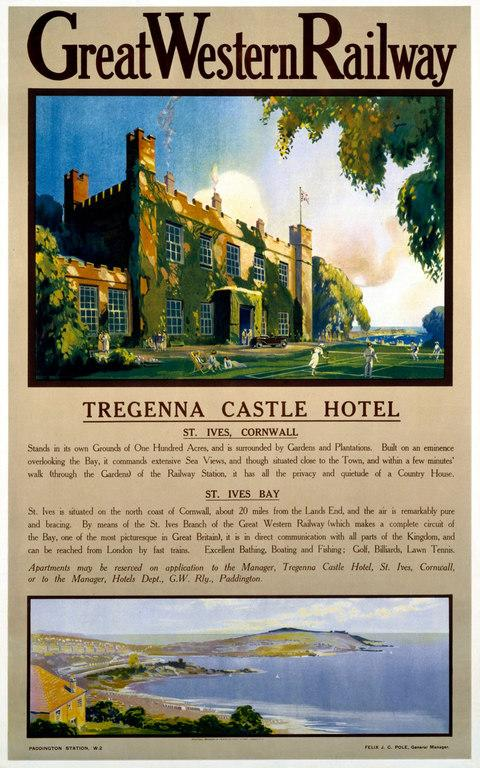 A Great Western Railway poster for the Tregenna Castle Hotel - Credit: Science & Society Picture Library