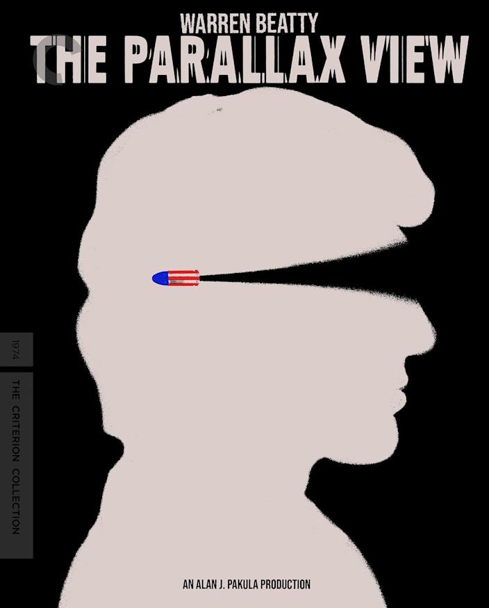 The Criterion Collection cover art for The Parallax View.