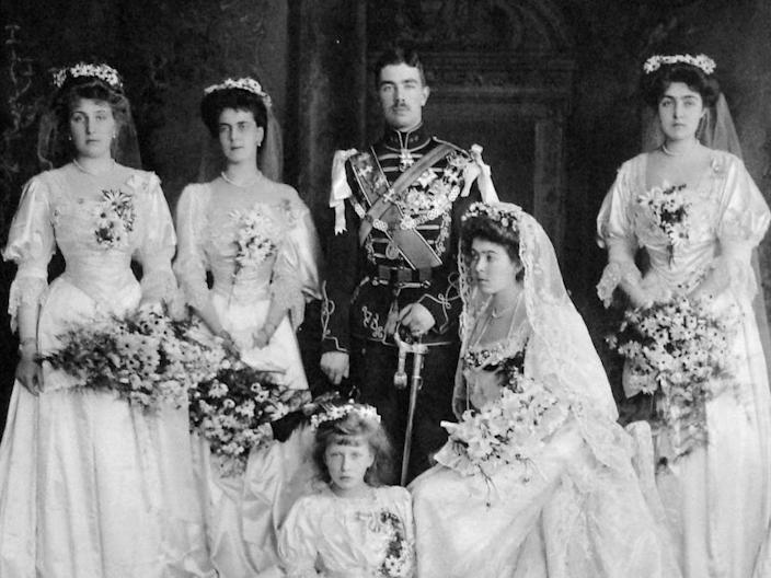 june 15 1905 princess margaret of connaught daughter of prince arthur queen victorias third son married prince gustaf adolf of sweden to be king gustaf vi of sweden at st georges chapel windsor castle