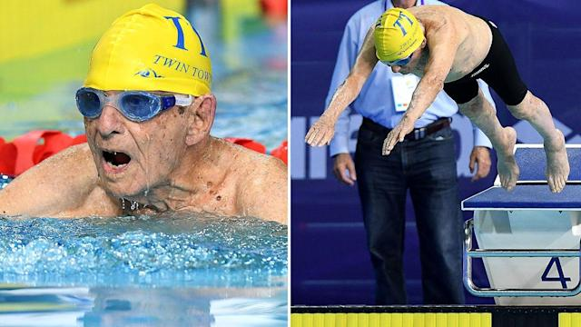 <p>Aussie 99-year-old smashes swimming world record</p>