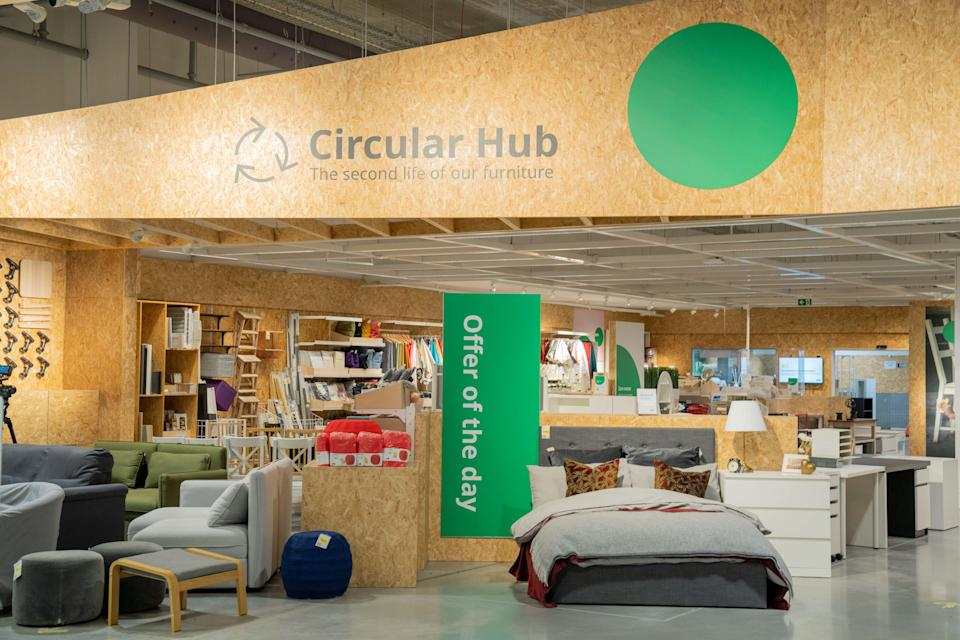 The second-hand items will be sold at the store's Circular Hubs as the retailer bids to become a 'climate-positive' business (CPG Photography/PA)
