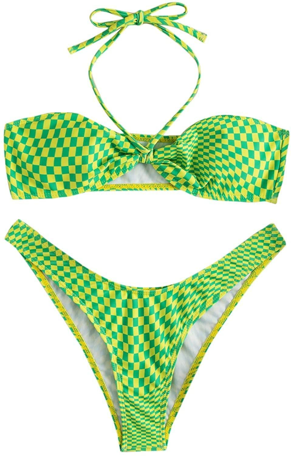 <p>This <span>Soly Hux Checkered Halter Swimsuit</span> ($22-$24) is a bright and cheerful pick for pool parties.</p>