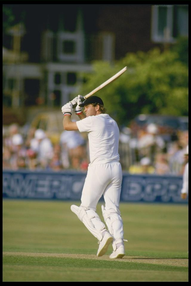 Jul 1984:  Martin Crowe of New Zealand batting in the John Player match between Somerset and Sussex at Hove.                                                                  Mandatory Credit: Adrian Murrell/Allsport UK