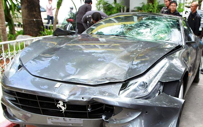 The car allegedly involved in the hit-and-run that killed a police officer in 2012 - STR/AFP