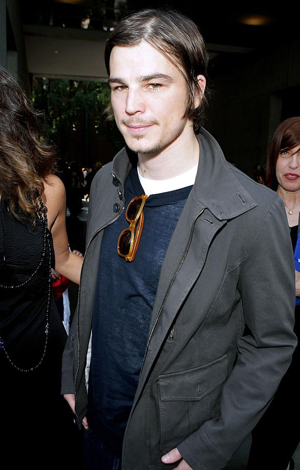"""Perhaps Josh Hartnett should have showered before arriving at the Emporio Armani event? Venturelli/<a href=""""http://www.wireimage.com"""" target=""""new"""">WireImage.com</a> - June 21, 2008"""