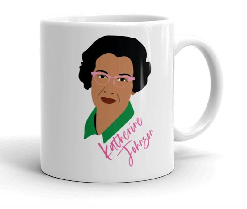 Hidden Figures Katherine Johnson double-sided Coffee Mug. Image via Etsy.