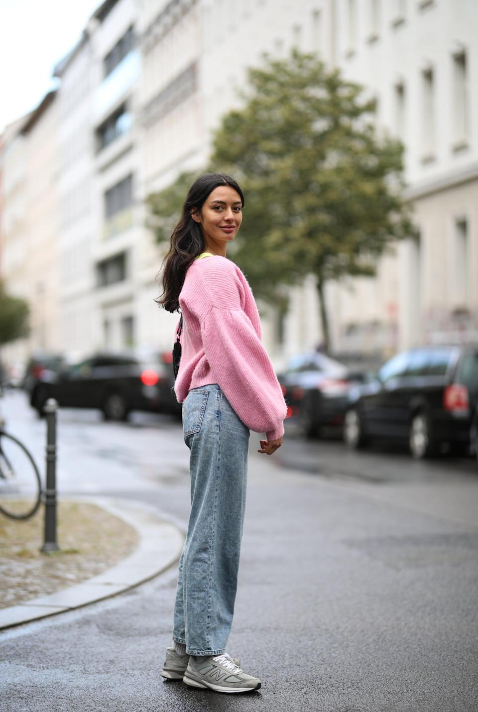 <p>Don't overthink it - just add a cozy sweater and your favorite sneakers for no-fail outfit. </p>