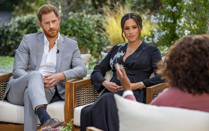 The Duke and Duchess of Sussex will 'speak their truth' in the interview on US television on Sunday night - Joe Pugliese/ Harpo Productions