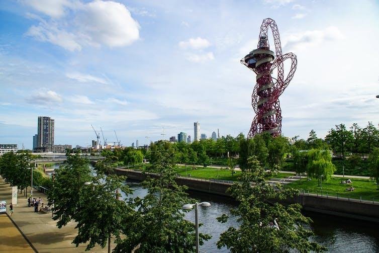 The ArcelorMittal sculpture in the Queen Elizabeth Olympic Park, London