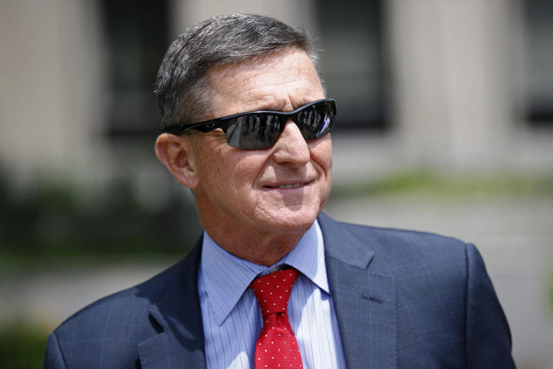 Michael Flynn, President Donald Trump's former national security adviser, departs a federal courthouse after a hearing, Monday, June 24, 2019, in Washington. (Patrick Semansky/AP)