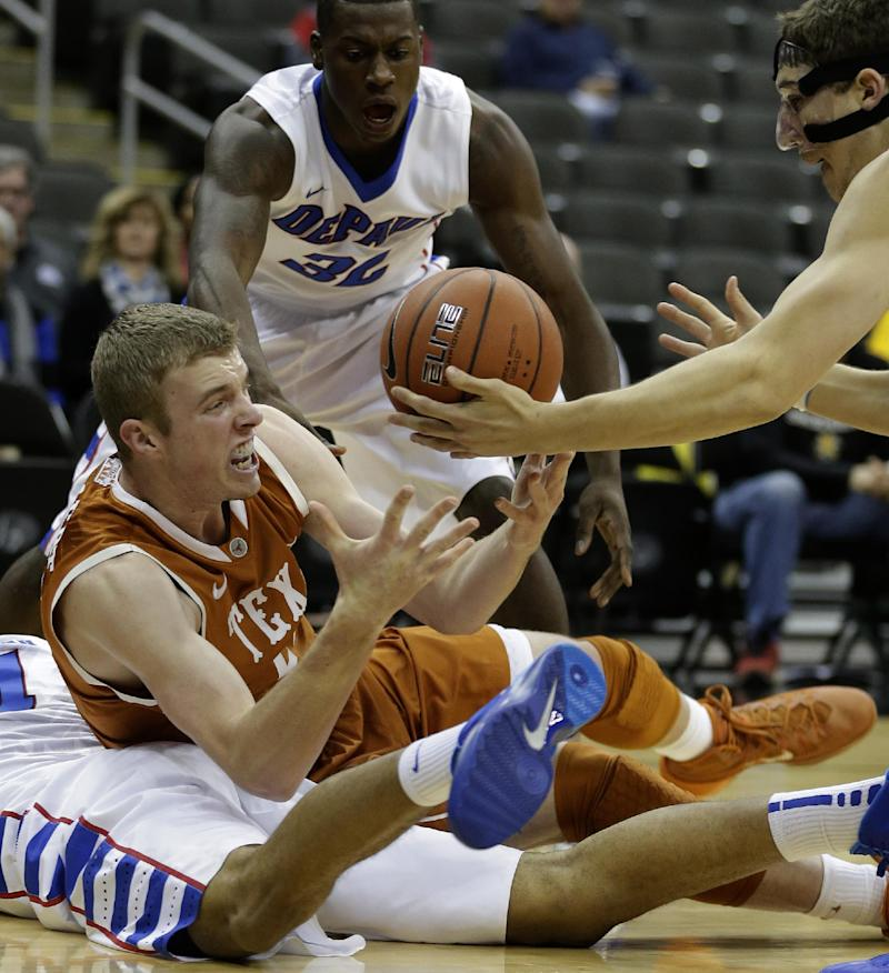 Ridley leads Texas to 77-59 victory over DePaul