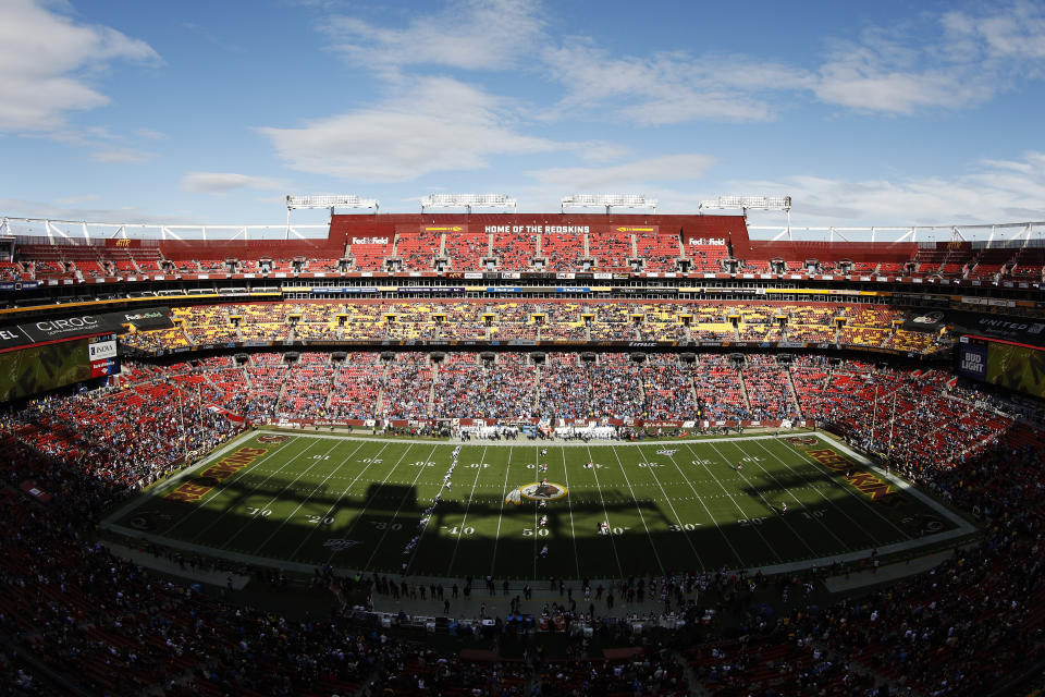 The stands of FedEx Field will remain empty this season. (Photo by Patrick McDermott/Getty Images)