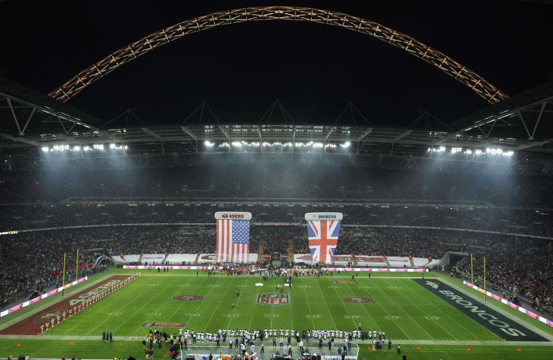 General view of the arena ahead of the NFL Football match between the Denver Broncos and San Francisco 49ers at Wembley Stadium in London, Sunday Oct. 31, 2010. (AP Photo/Dave Shopland, Pool)
