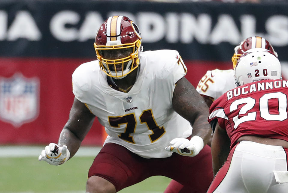 Washington Redskins offensive tackle Trent Williams (71) has been given permission to seek a trade. (AP Photo/Rick Scuteri, File)