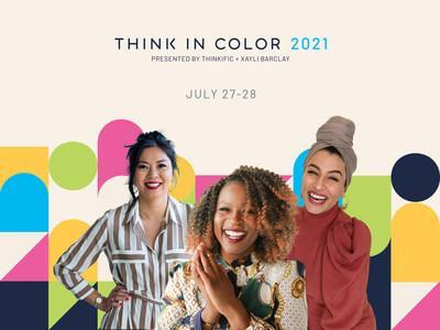 Two day virtual Think in Color 2021 Summit attracted over 20,000 registrants from over 48 countries (CNW Group/Thinkific Labs Inc.)