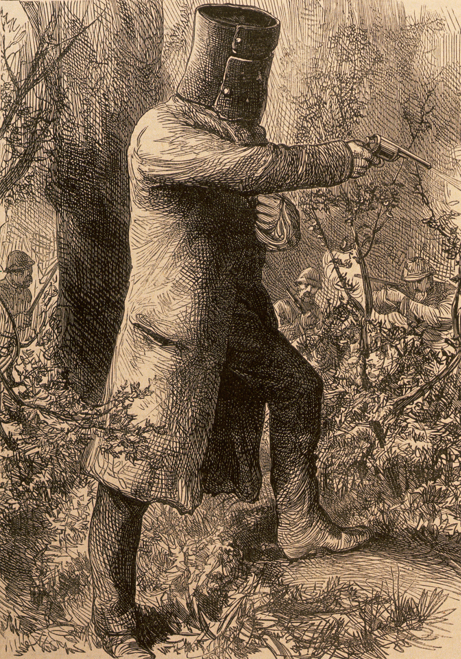 Ned and Dan Kelly led a band of outlaw bushrangers active in Victoria and New South Wales in the late 19th century. Illustration from Illustrated London News, September 11, 1880. (Photo by © CORBIS/Corbis via Getty Images)