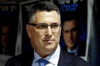 FILE PHOTO: Gideon Saar, a popular Likud party member and a challenger to Israeli Prime Minister Benjamin Netanyahu in Likud party leadership primaries, speaks to supporters in Rishon Lezion, Israel
