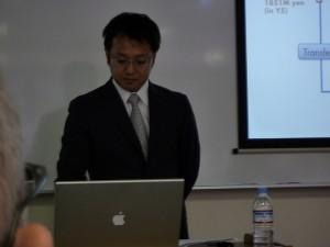 Man giving a presentation