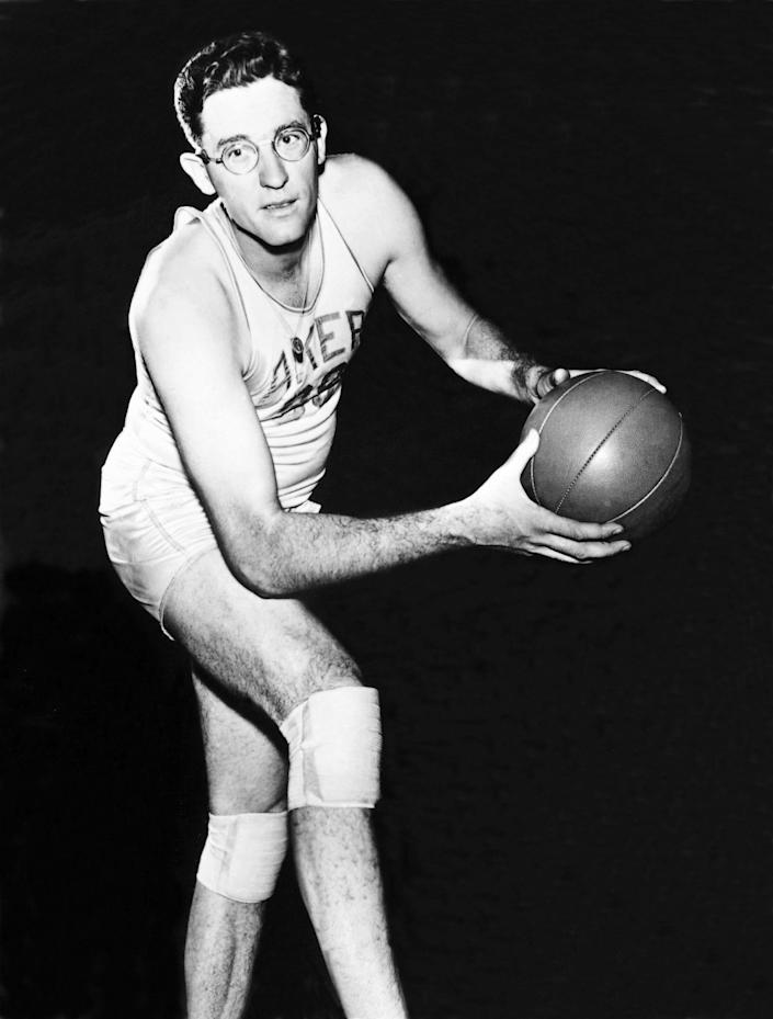 George Mikan lead the Minneapolis Lakers to their first NBA championship in 1949.