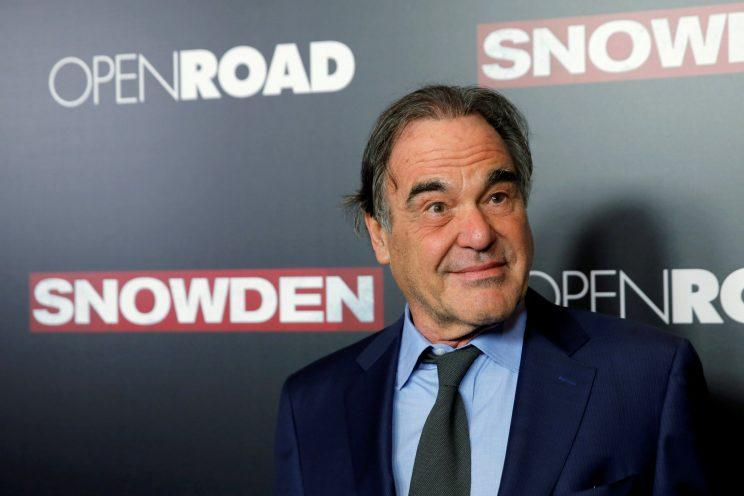 Director Oliver Stone attends the N.Y. premiere of 'Snowden'