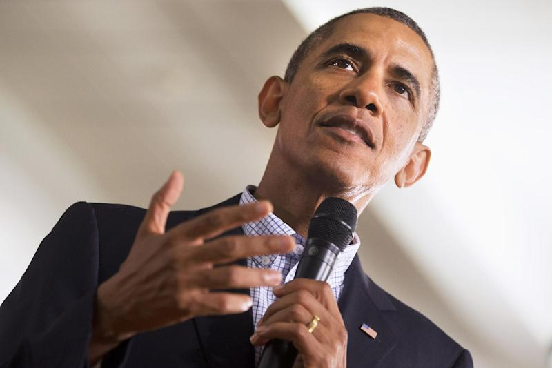 President Barack Obama speaks about affordable college education during a town hall meeting at Binghamton University, Friday, Aug. 23, 2013, in Vestal, N.Y. Obama is on a the second day of his two-day bus tour in upstate New York and Pennsylvania. (AP Photo/Jacquelyn Martin)