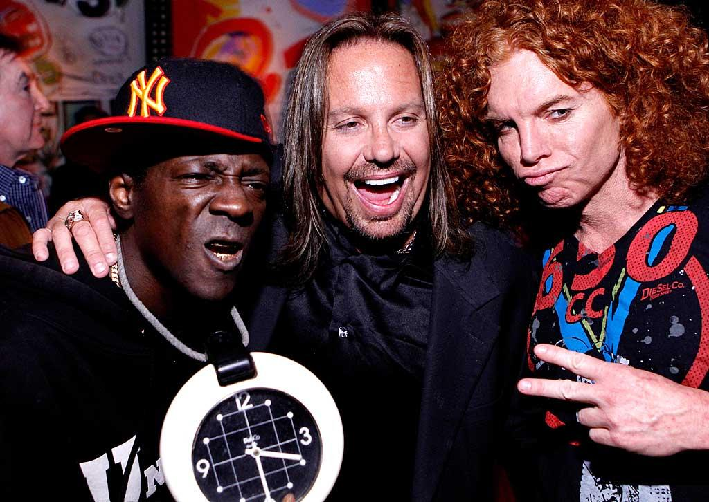"Former Motley Crue lead singer Vince Neil toasted his 50th birthday Saturday in Las Vegas at the Wynn's Blush Boutique Nightclub. The interesting guest list included Flavor Flav and Carrot Top. Jacob Andrzejczak/<a href=""http://www.wireimage.com"" target=""new"">WireImage.com</a> - February 5, 2011"
