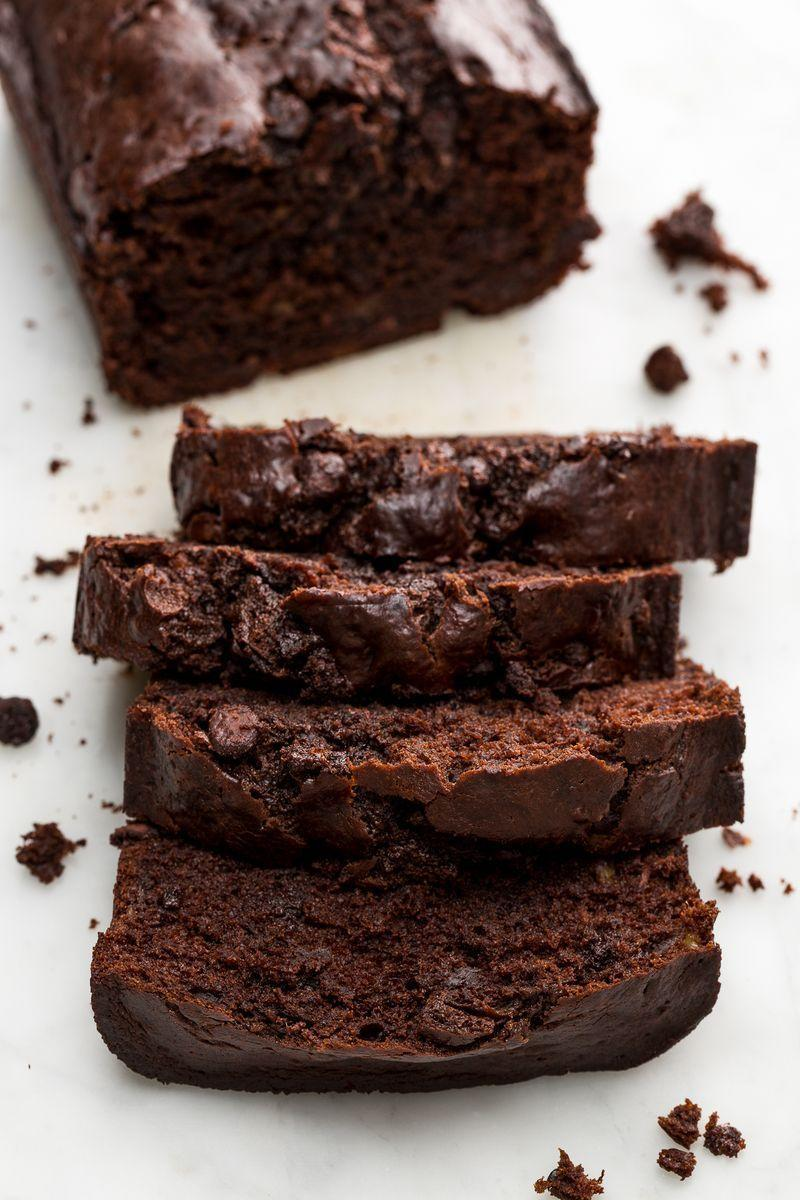 "<p>Cocoa powder and chocolate chips make this banana bread a chocolate lover's dream.</p><p>Get the <a href=""https://www.delish.com/uk/cooking/recipes/a28826246/death-by-chocolate-banana-bread-recipe/"" rel=""nofollow noopener"" target=""_blank"" data-ylk=""slk:Death By Chocolate Banana Bread"" class=""link rapid-noclick-resp"">Death By Chocolate Banana Bread</a> recipe.</p>"
