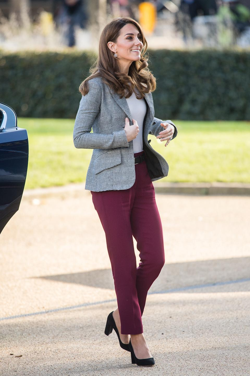 The Duchess of Cambridge attends Shout's Crisis Volunteer celebration event. [Photo: Getty]