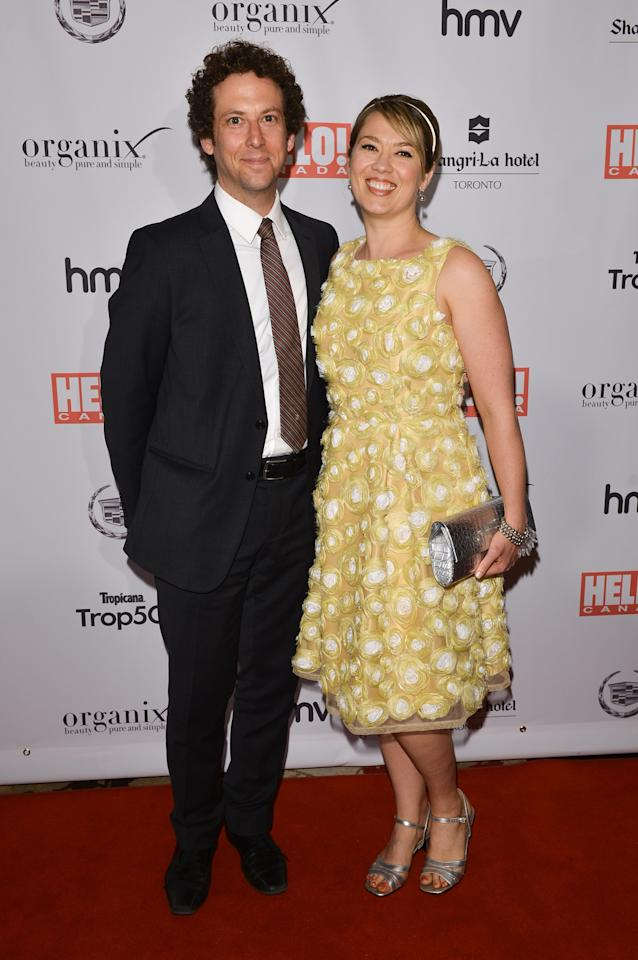 TORONTO, ON - MAY 09:  Actors Matt Baram and Naomi Snieckus arrive at the Hello! Canada gala celebrating Canada's 50 Most Beautiful at Shangri-La Hotel on May 9, 2013 in Toronto, Canada.  (Photo by George Pimentel/Getty Images)