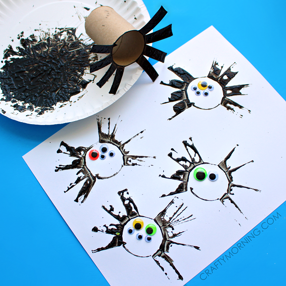 "<p>Prep these toilet paper spiders ahead of time, so your kids can focus on the fun part: stamping spiders with black paint, and personalizing them with colorful googly eyes. </p><p><em><a href=""https://www.craftymorning.com/two-toilet-paper-roll-spider-crafts-for-kids/"" rel=""nofollow noopener"" target=""_blank"" data-ylk=""slk:Get the tutorial at Crafty Morning »"" class=""link rapid-noclick-resp"">Get the tutorial at Crafty Morning »</a></em></p>"