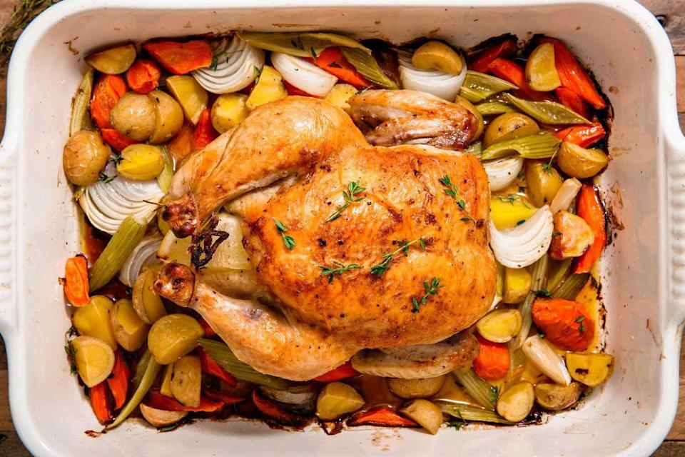 """<p>Who doesn't LOVE a roast dinner? Plates jam-packed with yummy food like roast beef, veggies and lots and lots of <a href=""""https://www.delish.com/uk/cooking/recipes/a28926426/perfect-gravy-recipe/"""" rel=""""nofollow noopener"""" target=""""_blank"""" data-ylk=""""slk:GRAVY"""" class=""""link rapid-noclick-resp"""">GRAVY</a>. It's the one thing getting you through that long week of work, just knowing that on Sunday you can indulge in as much roasted goodness as you want. Have seconds, have thirds, save some for later. Just make sure you eat it all, because, trust me when I say, you will regret it... you will regret it. </p>"""