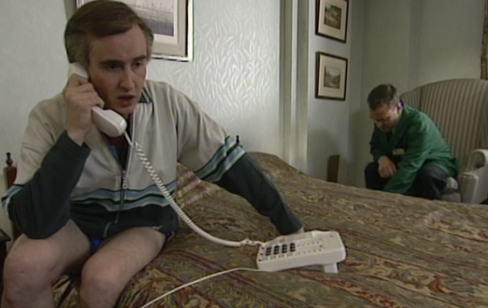 Steve Coogan and Simon Greenhall in I'm Alan Partridge.(BBC)