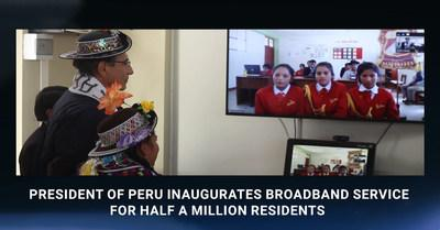 President of Peru inaugurates broadband service for half a million residents
