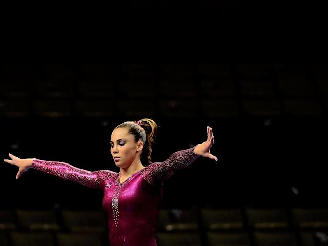 Maroney won a team gold and an individual silver on vault at the 2012 Games: Getty