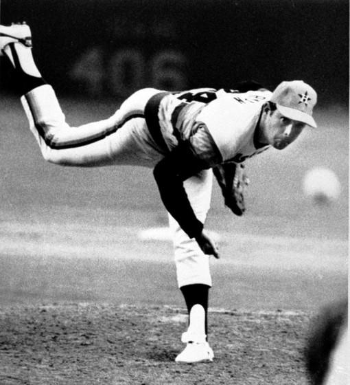 """Nolan Ryan recorded his 4,000th career strikeout when he was a member of the Houston Astros. <span class=""""copyright"""">(Associated Press)</span>"""
