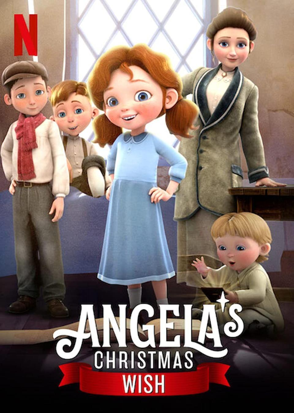 """<p>Add <em>Angela's Christmas</em><em> Wish</em> to the top of your must-watch list the next time the whole family is looking to spend the night in together. This sweet story, based on a children's book by Pulitzer Prize–winning author Frank McCourt, follows a young Irish girl who, after seeing that the baby Jesus doll in the local nativity scene has been left without a blanket, makes it her personal mission to ensure he's able to stay warm. </p><p>This, of course, is easier said than done. The adventures Angela has, plus the film's overall message of generosity might make it a new family favorite.</p><p><a class=""""link rapid-noclick-resp"""" href=""""https://www.netflix.com/title/80230507"""" rel=""""nofollow noopener"""" target=""""_blank"""" data-ylk=""""slk:Watch Now"""">Watch Now</a></p>"""