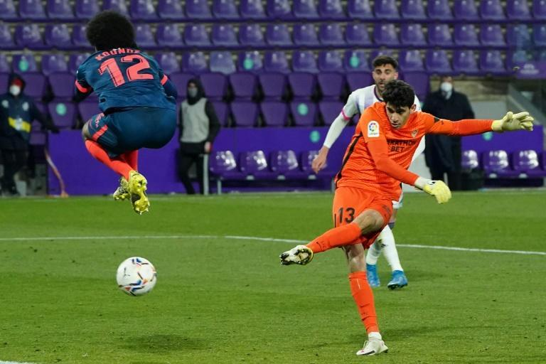 Sevilla goalkeeper Yassine 'Bono' Bounou snatches a stoppage-time La Liga equaliser at Real Valladolid.