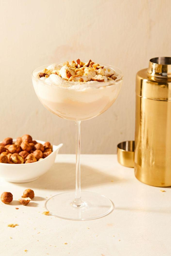 """<p>We are absolutely nuts for this hazelnut-flavored holiday cocktail.</p><p>Get the recipe from <a href=""""https://www.delish.com/cooking/recipe-ideas/a35686657/nutty-irishman-recipe/"""" rel=""""nofollow noopener"""" target=""""_blank"""" data-ylk=""""slk:Delish"""" class=""""link rapid-noclick-resp"""">Delish</a>.</p>"""