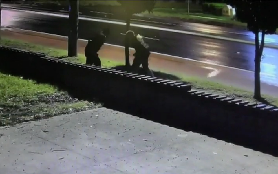 The assault continued until a passerby intervened and forced the trio to leave. Photo: NSW Police Media