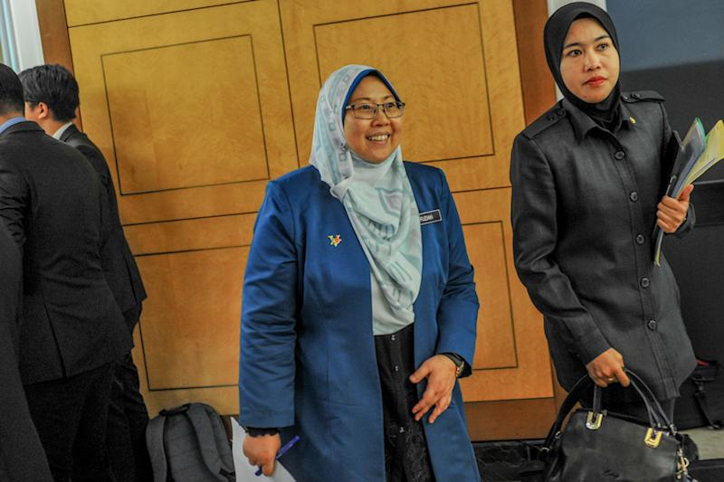 Kuantan MP Fuziah Salleh is pictured in Parliament October 16, 2019. — Picture by Firdaus Latif