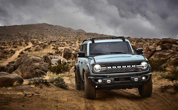 PHOTO: The 2021 Bronco Four-Door Badlands with Sasquatch package. (Ford Motor Co.)