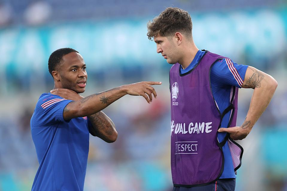 John Stones says Raheem Sterling's direct approach has been huge for England at Euro 2020 (The FA via Getty Images)