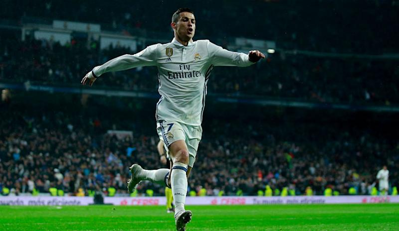 5416a0a8e Cristiano Ronaldo of Real Madrid CF celebrates scoring their second goal  during the La Liga match