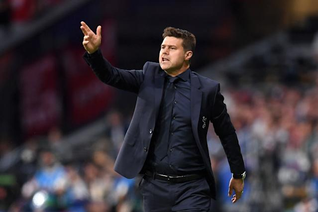 Mauricio Pochettino gives instructions during the Champions League Final (Photo by Matthias Hangst/Getty Images)