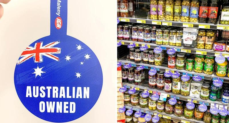 Some IGA stores have rolled out Australian owned labels. Source: Facebook